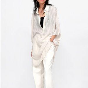 Zara texture oversized blouse